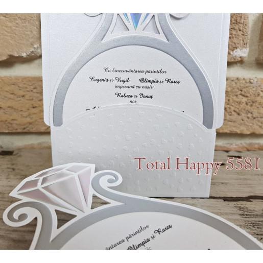 Invitatie de nunta inel de logodna 5581 CONCEPT
