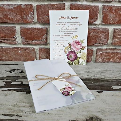 Invitatie de nunta cu trandafiri 5608 CONCEPT