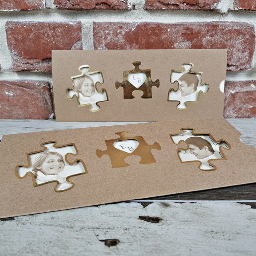 Invitatie de nunta cu poza tip puzzle 5615 CONCEPT