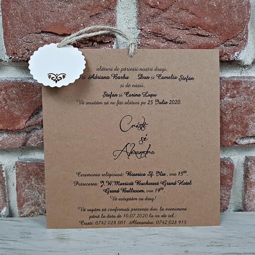 Invitatie de nunta cu decupaje dantelate 5621 CONCEPT