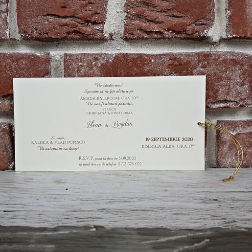 Invitatie de nunta in stil baroc 5625 CONCEPT