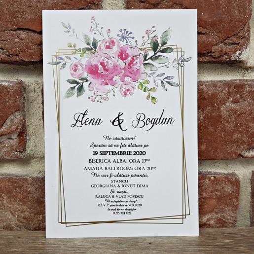 Invitatie de nunta florala 5637 CONCEPT