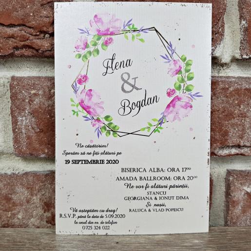 Invitatie de nunta florala 5638 CONCEPT
