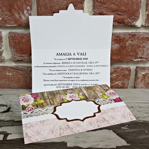 Invitatie de nunta florala 5645 CONCEPT