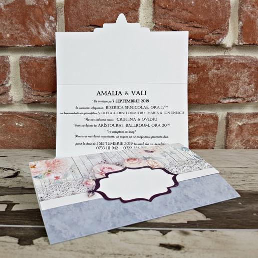 Invitatie de nunta florala 5649 CONCEPT