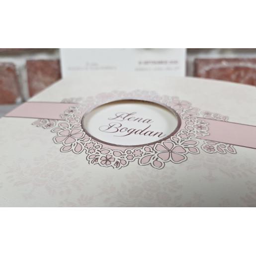 Invitatie de nunta glam cu flori 5657 CONCEPT