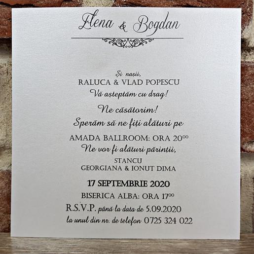 Invitatie de nunta baroc 5660 CONCEPT