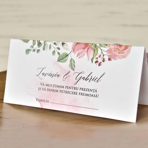 Plic pentru bani cu trandafiri acuarela 5762 ECONOMIQ