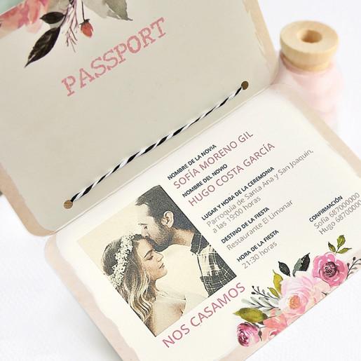Invitatie tip passport razuibil 39701 CLARA