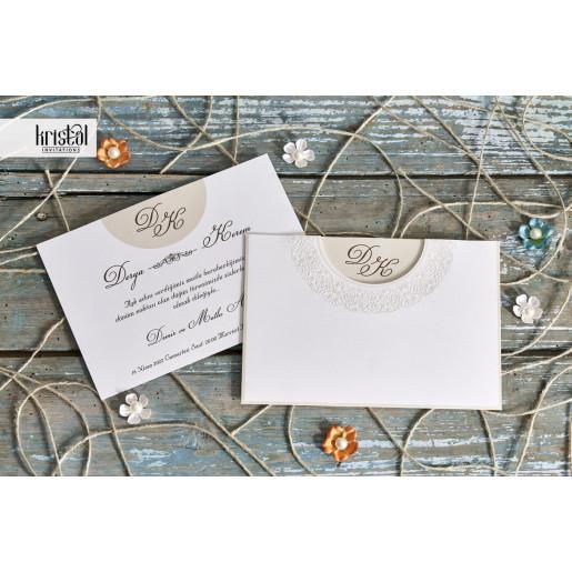Invitatie de nunta clasica 70219 KRISTAL