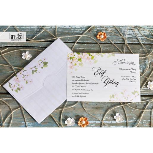 Invitatie de nunta florala 70244 KRISTAL