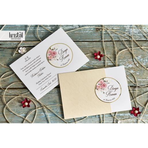 Invitatie de nunta florala cu decupaj 70245 KRISTAL