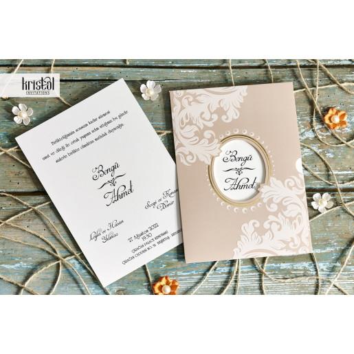 Invitatie de nunta florala 70248 KRISTAL