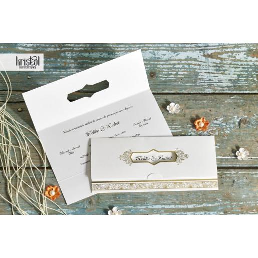Invitatie de nunta florala tip plic 70284 KRISTAL