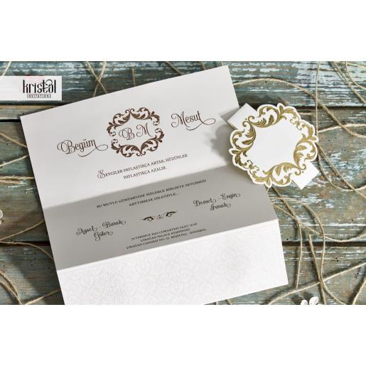 Invitatie de nunta florala 70336 KRISTAL