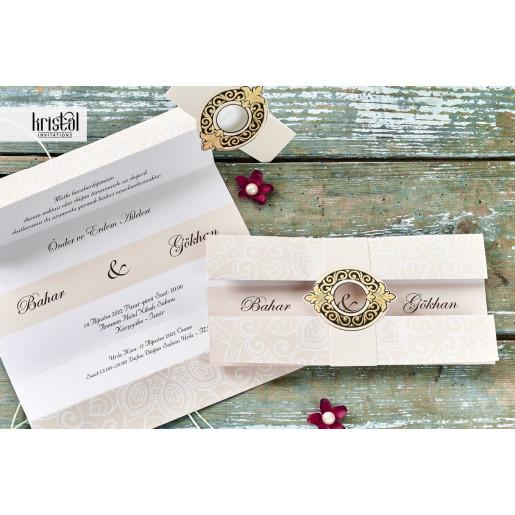 Invitatie de nunta glam somon 70338 KRISTAL