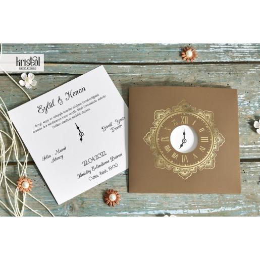 Invitatie de nunta cu model ceas 70351 KRISTAL