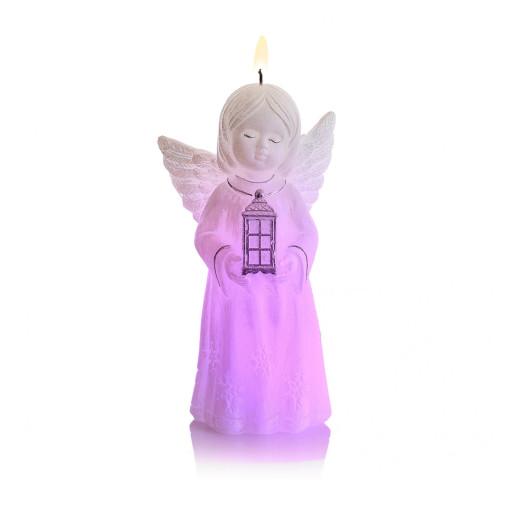 Lumanare parfumata Inger de la Bethlehem cu dioda BC6412