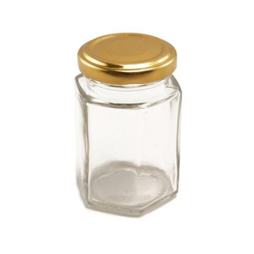 Borcan botez 110 ml Hexagonal CH cu capac TO 48