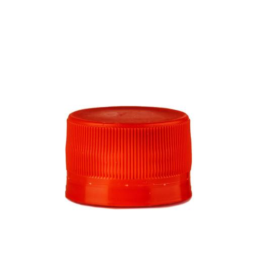 Capac plastic prefiletat rosu D 28 mm