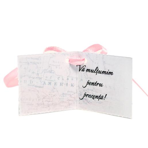 Eticheta - Card dublu perforat alb 87