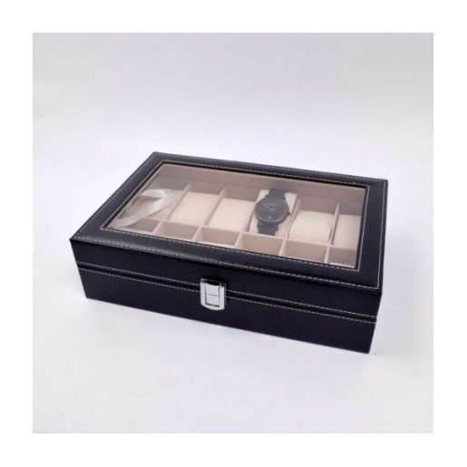 Caseta Din PVC Pentru 12 Ceasuri CST007