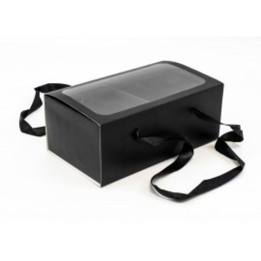 Cutie Neagra de Carton cu Fereastra si Separeu CTC101