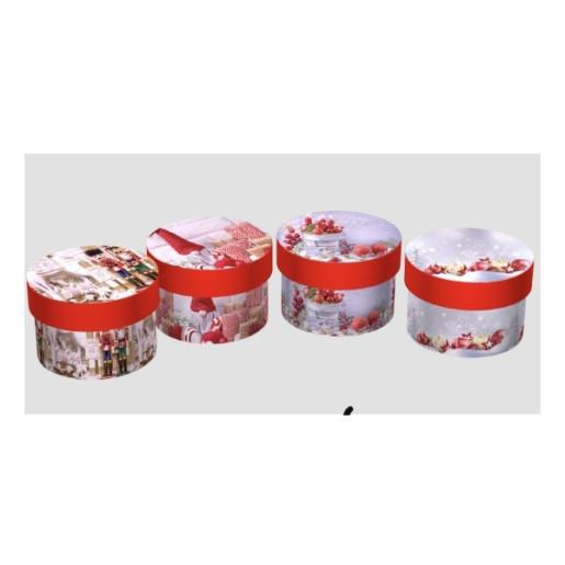 Cutie Carton Rotunda Rosu Craciun12/Set CTC169
