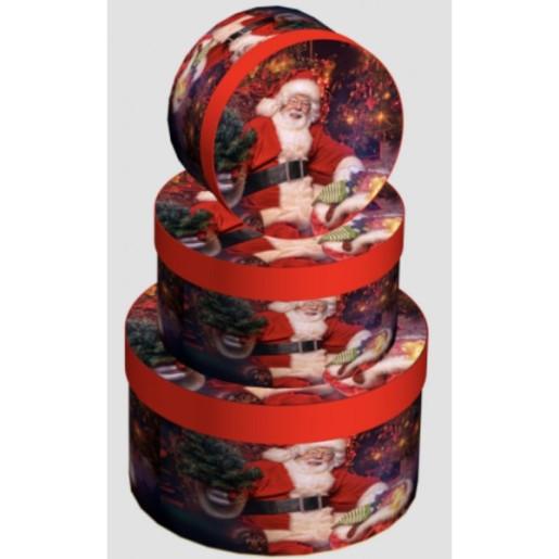 Cutie Carton Rotunda Mos Craciun 3/Set CTC172