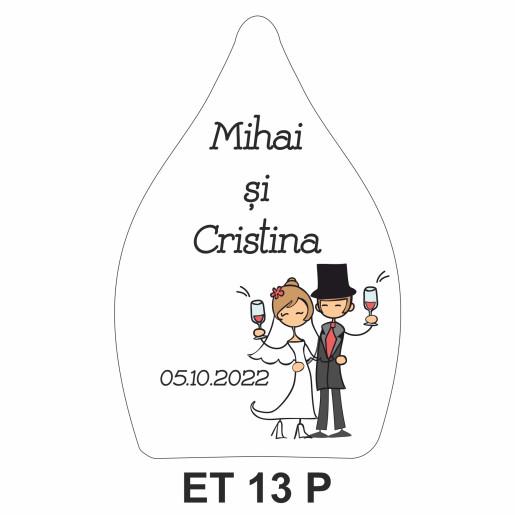 Eticheta pentru sticla ET 13 P