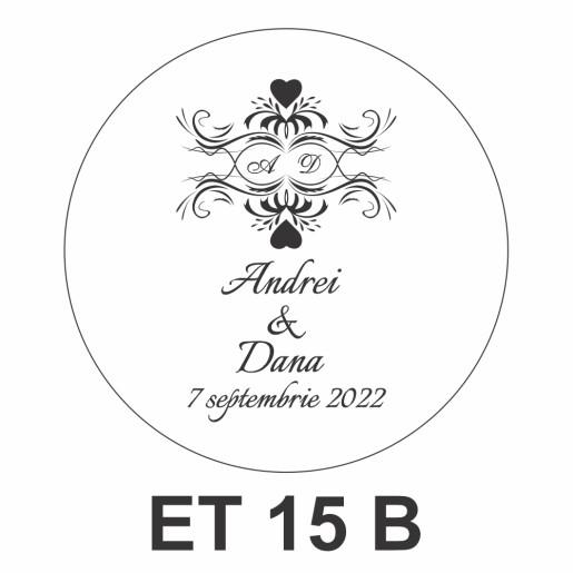 Eticheta pentru borcan ET 15 B