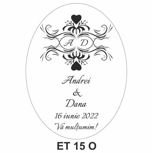 Eticheta pentru sticla ET 15 O