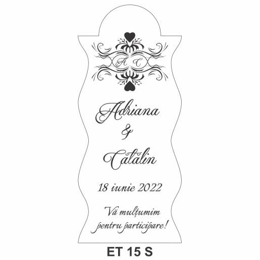 Eticheta pentru sticla ET 15 S