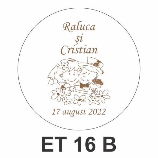 Eticheta pentru borcan ET 16 B