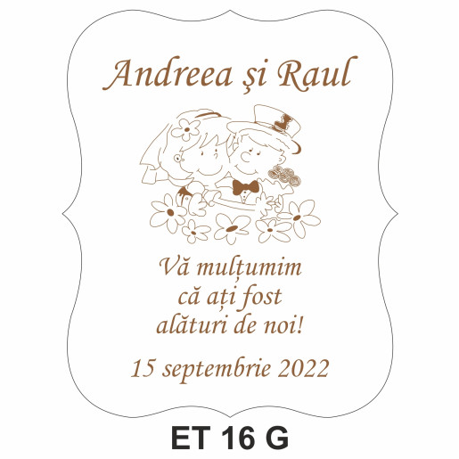 Eticheta pentru sticla ET 16 G