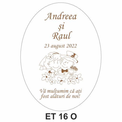 Eticheta pentru sticla ET 16 O