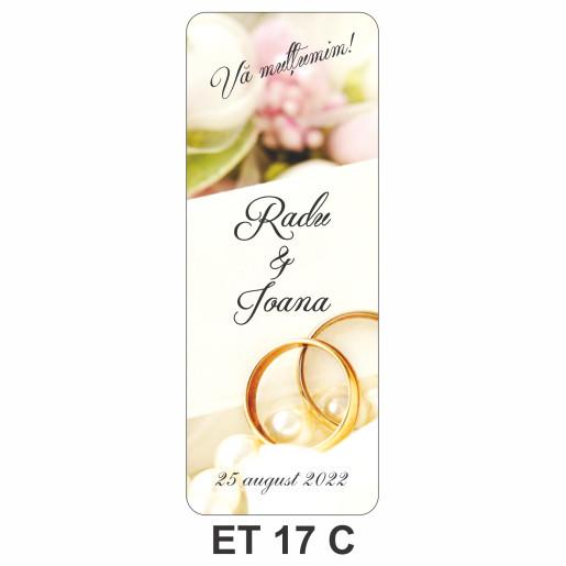Eticheta pentru sticla ET 17 C