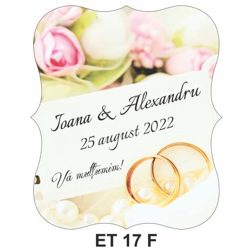 Eticheta pentru sticla ET 17 F
