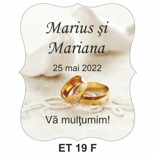 Eticheta pentru sticla ET 19 F