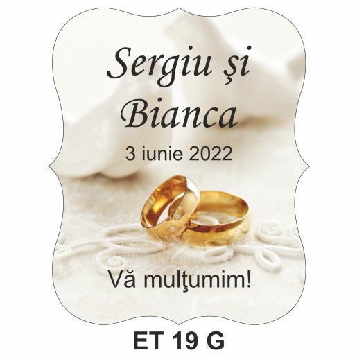 Eticheta pentru sticla ET 19 G