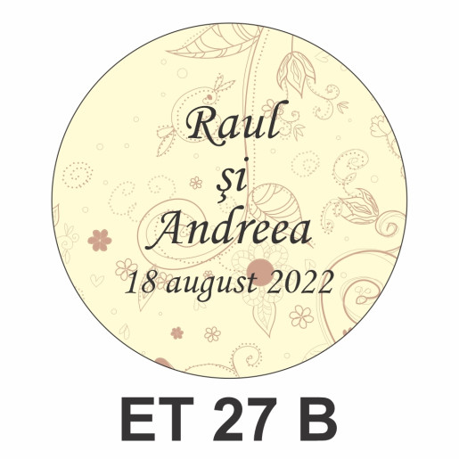 Eticheta mica ET 27 B
