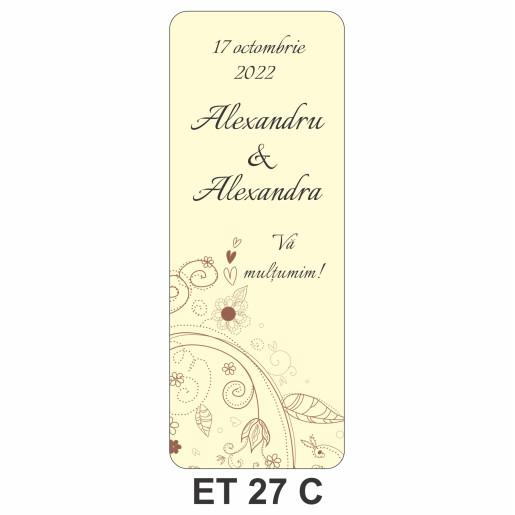 Eticheta pentru sticla ET 27 C