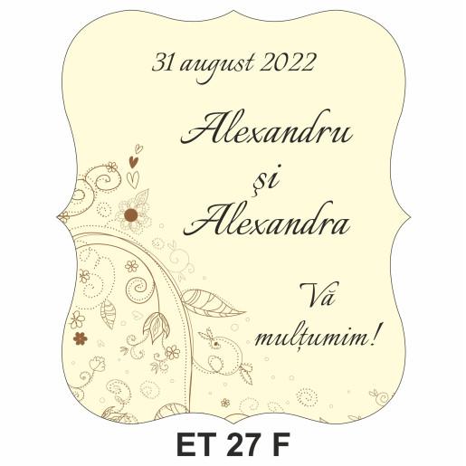 Eticheta pentru sticla ET 27 F
