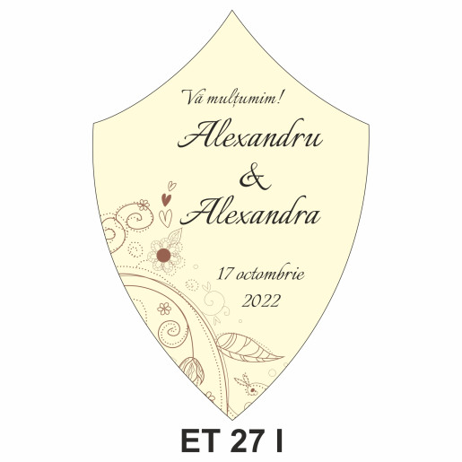 Eticheta pentru sticla ET 27 I