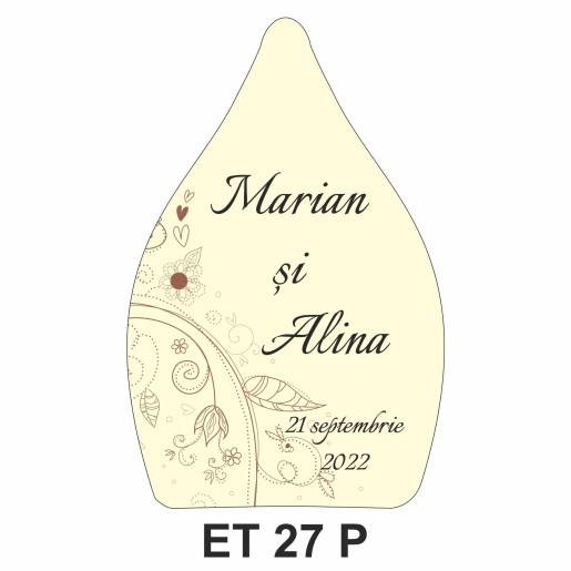 Eticheta pentru sticla ET 27 P