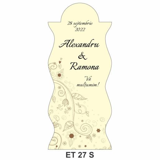 Eticheta pentru sticla ET 27 S