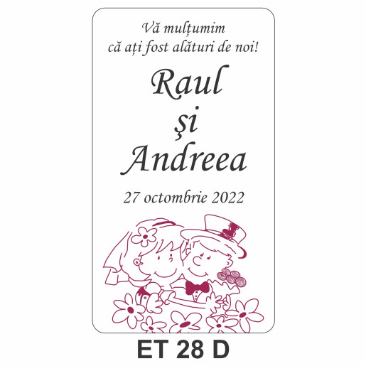 Eticheta autocolanta ET 28 D