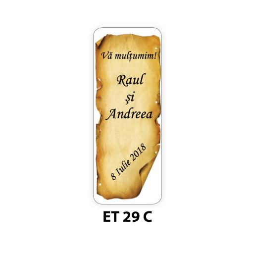 Eticheta autocolanta ET 29 C