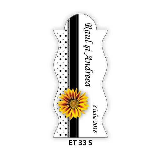 Eticheta pentru sticla ET 33 S