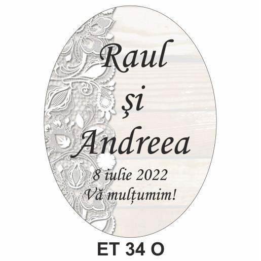 Eticheta pentru sticla ET 34 O